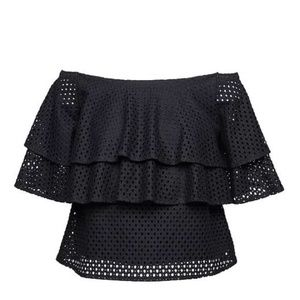 Banana Republic Off-the-Shoulder Eyelet Top